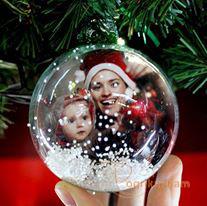 Տոնածառի խաղալիք լուսանկարով